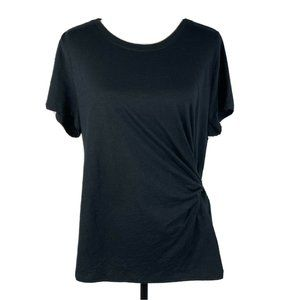 Style & Co Top Tie Side Cap Sleeve Stretch